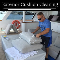 Yacht Exterior Cushion Cleaning